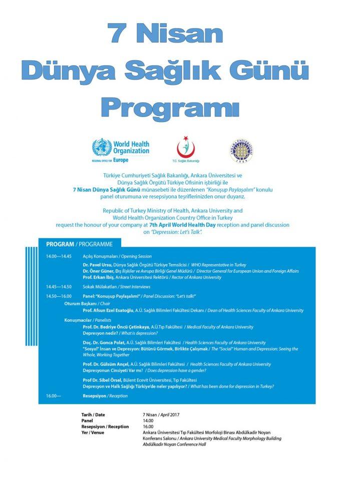 """7 Nisan Dünya Sağlık Günü """"Depresyon:Konuşup Paylaşalım"""""""